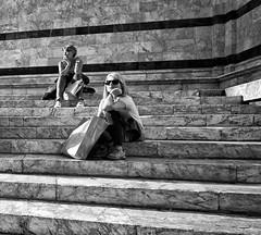 """ A moment of rest "" (pigianca) Tags: siena candidportrait monochrome blackwhite bw streetphoto urbanphoto leicam9 voigtlanderheliar15mmf45iii crop"