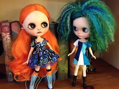 Marina isn't entirely sure Wilhelmina can make the switch from witch doll to regular doll, but I think she looks cute in her blue dress.