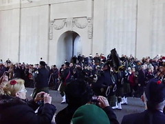 Pipes march out Menin Gate (ericy202) Tags: out gate day pipes marching service ypres armistice menin 11112014