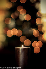Christmas Candle (Sandy Sharples) Tags: christmas family friends light love loss canon candle dof bokeh memory