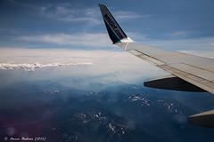 The Canadian Rockies / westjet wing - Trip to Hawaii // Canon 6D (steeve.m) Tags: vacation sky copyright canada mountains plane hawaii flight bigisland westjet steeve 2014 maltais