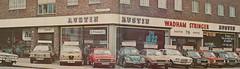 Wadham Stringer 1975 - Austin House, 76 Brixton Hill, London SW2 - Practical Motorist 6/75 (Spottedlaurel) Tags: london vw austin beetle mini victor 1970s maxi vauxhall clubman allegro austinhouse brixtonhill wadhamstringer