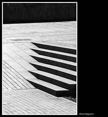 composition of Cordoba (magicoda) Tags: street shadow blackandwhite bw 6 sun abstract brick texture lines spain nikon strada foto geometry candid details steps bn ombre espana fantasy voyeur scales fantasia cordoba scala dettagli fotografia dslr andalusia sole six astratto sei biancoenero spagna geometria d300 linee gradini mattoni 2013 blackwhitephotos magicoda davidemaggi maggidavide