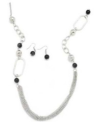 5th Avenue Black Necklace K2 P2120-5
