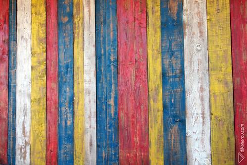 Colored boards.