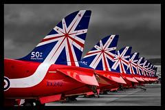 Red Arrows - 9 (mod) (NickJ 1972) Tags: hawk aviation airshow bae redarrows t1 2014 riat royalinternationalairtattoo britishaerospace xx242