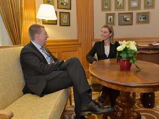 Visit by Federica Mogherini to Riga