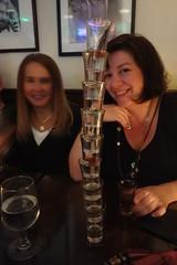 Suzanne, you're winning! (nicknormal) Tags: birthday glass shots vodka shotglass