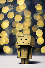 Stargazing (Sarah-BK) Tags: sky guy night stars real star bokeh box cardboard gazing danbo danboard