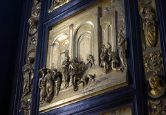 Ghiberti, Gates of Paradise, Esau and Jacob panel angle