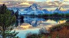 The Oxbow (Jeff Clow) Tags: morning mountain landscape wyoming mountmoran grandtetonnationalpark oxbowbend jacksonholewyoming jeffclowphototours