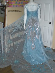 Elsa costume 2014 (EtheraPeril) Tags: snowflake frozen costume outfit dress cosplay disney cape gown rhinestone elsa