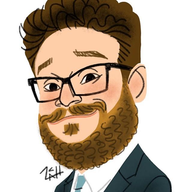 Daily Sketch: Seth Rogen.