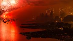 Festival of lights (MiloVoschPhotography) Tags: ocean park beach night boats bc fireworks tide ships falsecreek sunsetbeach englishbay westend hightide croud burrardbridge crouds westendvancouver milovosch symphonyoflightsvancouver