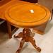 Cherry veneered circular table