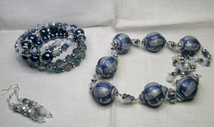Navy Blue- Silver set (klio1961) Tags: blue original silver spiral necklace beads handmade spirals unique oneofakind jewelry polymerclay fimo bracelet sculpey bracelets earrings imadethis colgantes dangle authentic imadeit artesania cernit vividcolors pendientes abalorios joyas pulseras premo hechoamano handmadebeads czechbeads arcillapolimerica xantres kosmimata braxiolia xeiropoiito diaxeiros uniqueproject vraxiolia infiniteloopbracelets