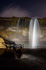 Seljalandsfoss (Danniorn) Tags: bridge winter light sky moon water night dark stars star waterfall iceland cool foss seljalandsfoss northernlights