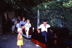 Switzerland   -   Stein am Rhine   -   Jeb, Jessica, John, Oma    -    August 1986 (Ladycliff) Tags: john switzerland jessica oma jeb steinamrhine