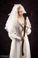 keeping it nerdy constance (haunted mansion) 6 (CE Photogenetix) Tags: portrait woman halloween female dark bride costume scary cosplay spirit character ghost victorian evil disney spooky weapon horror axe murder ax constance hatchet hauntedmansion canon40d christinaedwards