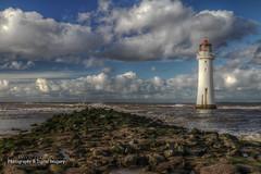 PERCH ROCK LIGHTHOUSE (David Preston Photography & Digital Imagery) Tags: sea clouds coast rocks hdr newbrighton merseyside thewirral perchrocklighthouse