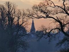 Gap (Tobymeg) Tags: trees spire sky dumfries church scotland town panasonic dmcfz72