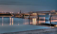 Lentloper by night (stevefge) Tags: nijmegen evening night bridges longexposure landscape nl nederland netherlands
