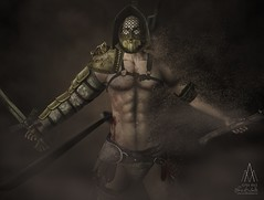 #219. Blood and Sand (Gui Andretti (Man Cave • Kinky Event • SenseS ) Tags: life playing fight war medieval arena gaming fantasy rpg second warrior brave armour gladiator atittude thracian theforge weloveroleplay