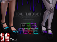 Violetility Toxic Platforms II (Violetility) Tags: shoes melting sl secondlife unisex dsf tdsf originalmesh darkstylefair