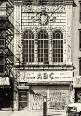 A B C (PAJ880) Tags: new york nyc bw abandoned st canal theatre entrance lowes