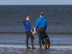 Skim Boarder 016 (KeithProvenArtist) Tags: sea beach sport scotland surf waves play fife standrews westsands skimboarder