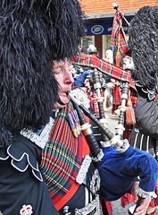 Piper (MWBee) Tags: nikon d750 piper bagpipes tartan wirral medals bearskin ladiesday neston chehsire mwbee