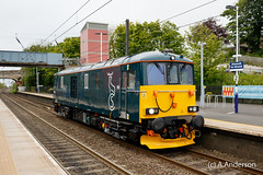 73970 20160601 Alnmouth (steam60163) Tags: class73 73970 caledoniansleeper alnmouth gbrf