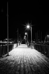 Boardwalk. (Explored). (Simon Rich Photography) Tags: wood night docks canon reflections boats lights shadows harbour jetty silhouettes southampton gosport simonrich mrmonts simonrichphotography
