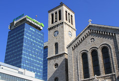 St. Joseph's Church & Sarajevo Twin Towers (Wild Chroma) Tags: church sarajevo bosnia stjoseph herzegovina twintowers