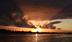 Shannon Sunset (Bob A Fox) Tags: sunset water river shannon rays westmeath