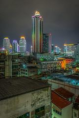 Up & down (aurlien.leroch) Tags: longexposure colors skyline nikon asia downtown cityscape nightscape skyscrapers bangkok asie thailande thaland d7100