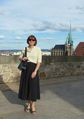 Summer skirt (Marie-Christine.TV) Tags: summer rock lady feminine sommer skirt blouse tgirl transvestite bluse mariechristine tgurl