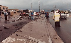 June 3, 1981 - Tornado damage in Thornton, Colorado. (City of Thornton)