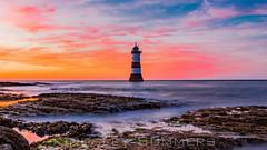 Golden Skies and Misty Seas (Kingssummers) Tags: anglesey penmon lighthouse trwyndu wales uk hdr sea seascape sunset rocks misty longexposure kingsley summers 5d mark iii 1635mm clouds