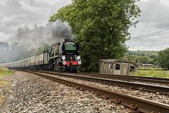 "34052 ""Lord Dowding"" (Eddie Hyde) Tags: 34052 lorddowding battleofbritain buckland surreyhills steamlocomotives steam railway"