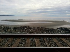 Beyond the tracks... (Beeke...) Tags: ocean railroad canada beach vancouver bc whiterock lowtide minimalist