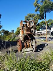 Old shale breaker or stamper 1912, brickworks  - Sydney Olympic  Park . (AndyBrii) Tags: quarry homebush sydneyolympicpark ringwalk statebrickworks
