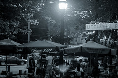 Little 5 Points Summer Evening (grantdaws) Tags: little 5 points five atlanta midtown color black white bw urband night dark glow colors colorful freedom park star bar vortex tattoo criminal revords sevananda bike bicycle bicycles pot medical cannabis crystal art artwork urban graffiti mannequin mannequins outdoors outside shops shopping boots bars beer pizza shop stores bohemian downtown evening dusk storefront storefronts