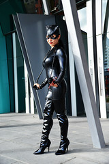 Cat - 4 (Smith-Bob) Tags: comic comics comicbooks dc marvel manga anime hero heroes villain villains heroesvillains superhero superheroes good bad evil cosplay costume film tv popculture armageddon comiccon ozcomiccon supanova animaga amc amce australianmoviecomicexpo amcexpo people street pax paxaus woman women catwoman catsuit cat cats black blackcat leather latex lycra mask boots pose model gloves lover foe femmefatale beautiful attractive beautifulwoman whip batman spiderman