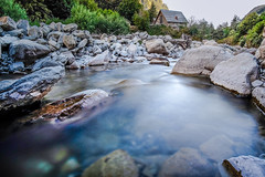 Dream house. (La.Cave.) Tags: outdoor landscape nature hiking river mountain mountains water reflections house wood rocks wildlife beautiful long exposure summer travel estrop france valley lake blue green