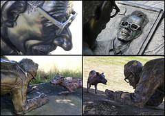 Sculptures in Felix Dennis's garden (alanhitchcock49) Tags: robert crumb cartoonist loren eiseley naturalist felix dennis garden dorsington warwickshire sculptures collage mosaic