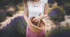 I will cherish my emptiness for this emptiness is mine (Sirliss) Tags: sirliss lavender summer field emptiness empty basket woman hands panier t