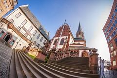 Stiftskirche in Aschaffenburg (mrocek) Tags: 2014 aschaffenburg bayern deutschland city kirche innenstadt museum strase stiftskirche stiftsplatz unterfranken panoramio7769543104386017