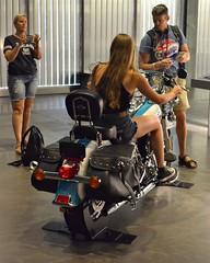 Harley-Davidson Museum (seanbirm) Tags: milwaukeewi harleydavidsonmuseum harleydavidson motorcycles madeinamerica wisconsin hog germans longlegs girl