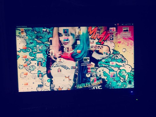 #harleyquinn  #Computer #monitor  #colorfuldisplay #black  #gholagraphy  #mobilephotography